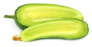Sliced young cucumber Royalty Free Stock Images
