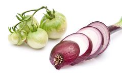 Sliced young red onion Royalty Free Stock Photography