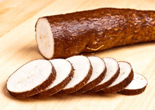 Sliced yuca Stock Image