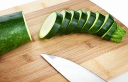 Sliced Zucchini Royalty Free Stock Photography