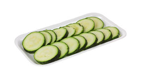 Sliced zucchini Royalty Free Stock Image