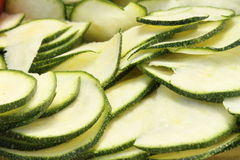 Sliced zucchini Royalty Free Stock Photos