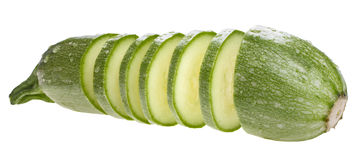 Sliced zucchini Stock Image