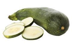 Sliced zucchini or courgette Royalty Free Stock Photo