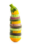Sliced Zucchini (courgette) and Eggplants / Colorful vegetable c Stock Photography