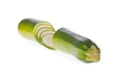 Sliced zucchini or courgette Royalty Free Stock Image