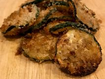 Breaded Zucchini Crisp Stock Photos