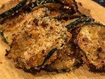 Breaded Zucchini Crisp Stock Photo