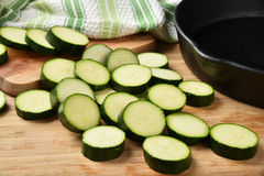 Sliced Zucchini Stock Images