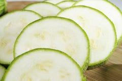 Sliced zucchini pile Stock Image