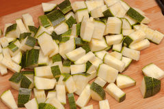 Sliced zucchini Royalty Free Stock Photo