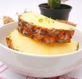 Slices of ananas Stock Photos