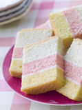 Slices of Angel Cake Stock Photography