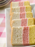 Slices Of Angel Cake On Plate royalty free stock image