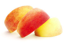 Slices of the apple. Slices of the big ripe red-yellow apple Stock Photography