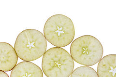 Slices of apple Royalty Free Stock Photos