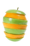 Slices of Apple and Orange Stock Photos