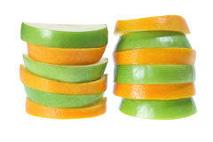 Slices of Apple and Orange Royalty Free Stock Photo