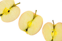 Slices of apples Stock Photography
