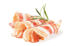 Slices of bacon royalty free stock images
