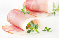 Slices of bacon Stock Photos