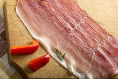 Slices of bacon Royalty Free Stock Photo