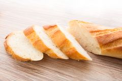 Slices of baguette Stock Photo