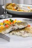 Slices of baked fish Dorado Royalty Free Stock Photo