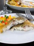 Slices of baked fish Dorado Royalty Free Stock Image