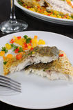 Slices of baked fish Dorado Stock Images