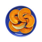 Slices of baked pumpkin - isolated object, food Royalty Free Stock Image