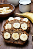 Slices of banana bread Royalty Free Stock Photography