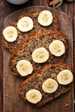 Slices of banana bread Royalty Free Stock Images