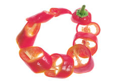 Slices of Banana Pepper Chillies Royalty Free Stock Photo