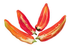 Slices of Banana Pepper Chillies Royalty Free Stock Images