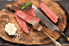 Slices of beef steak Royalty Free Stock Photos