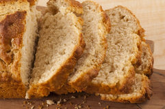 Slices of Beer Bread Stock Photography