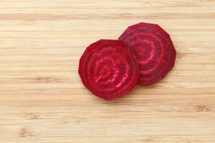 Slices of beet Stock Photos