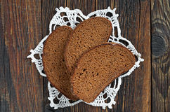 Slices of black bread Royalty Free Stock Image