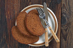 Slices of black bread Stock Image