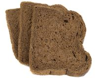 Slices of black ray grain Bread Royalty Free Stock Photography