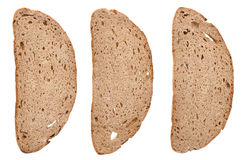 Slices of black rye bread Stock Image
