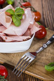 Slices of boiled Ham Stock Photography