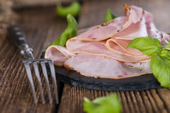 Slices of boiled Ham Royalty Free Stock Photo