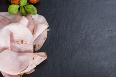 Slices of boiled Ham Stock Images