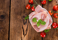 Slices of boiled Ham Royalty Free Stock Images