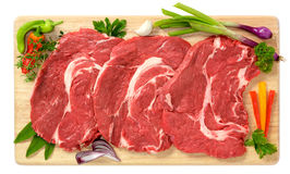 Slices of bovine Stock Photos