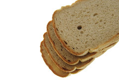 Slices of bread. Isolated on white background royalty free stock images