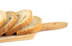 Slices of bread. On board Stock Photography