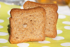 Slices of bread. Close up of two slices of bread Royalty Free Stock Photo